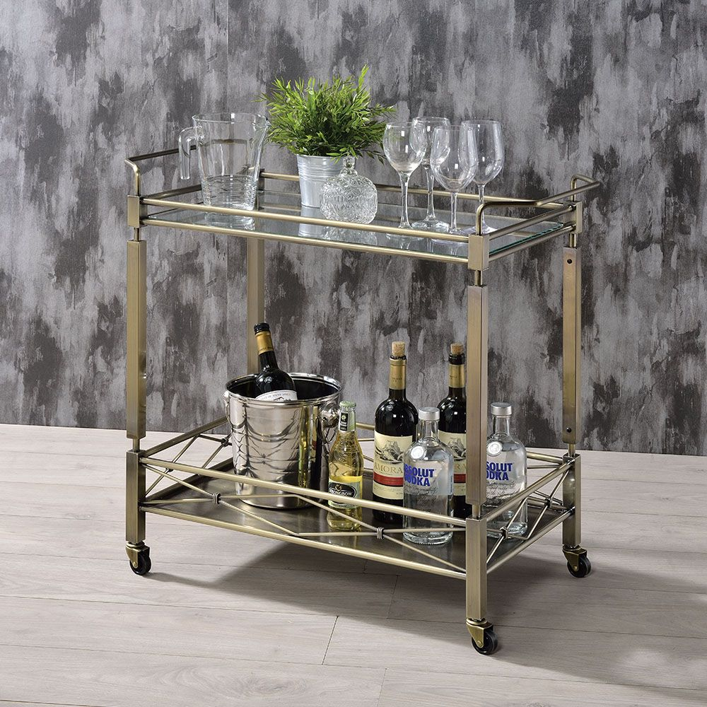 Glass Kitchen Cart