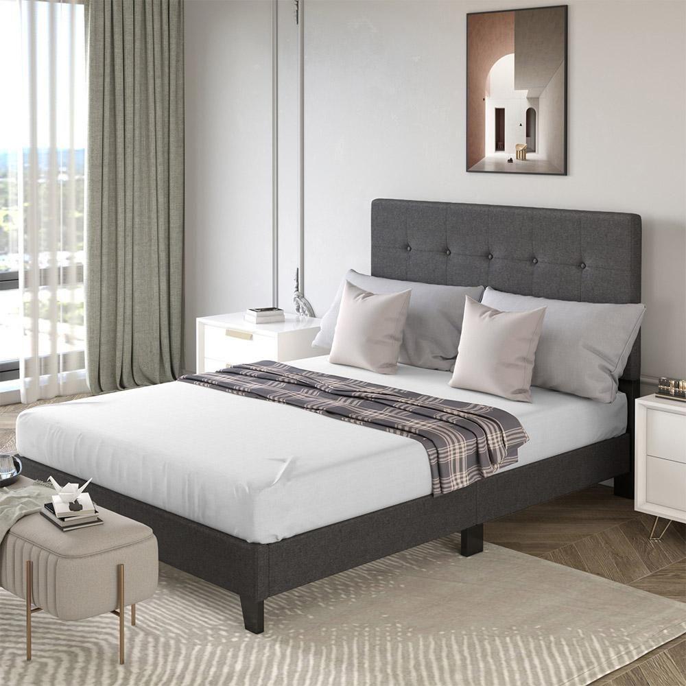 Rock Upholstered Platform Bed