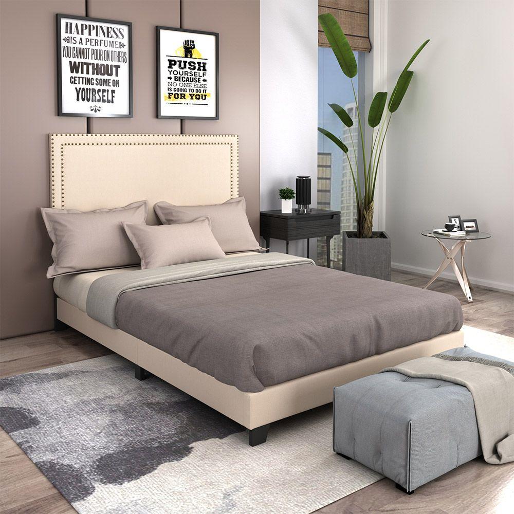 Beige Bed