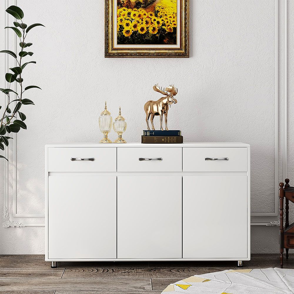 Baymax Side Cabinet with 3 Doors - Gray