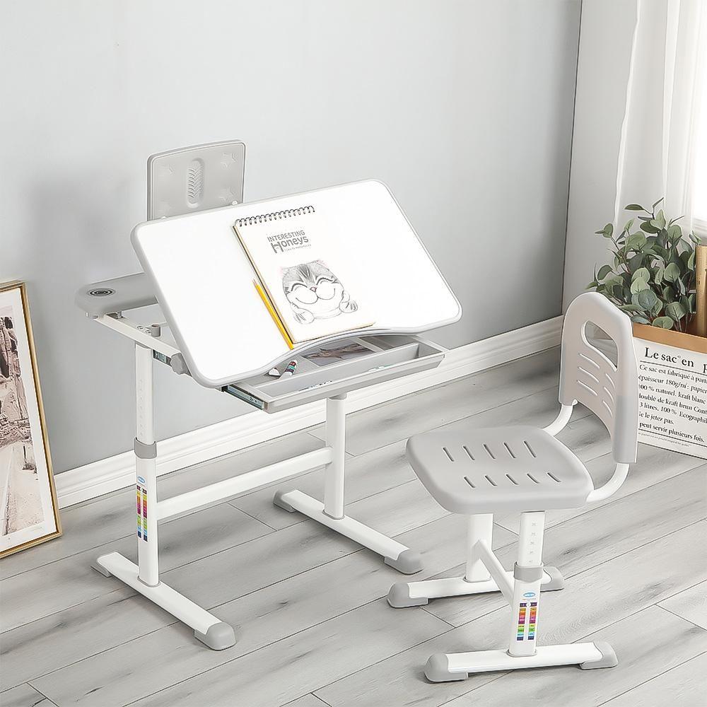 Gervasio Adjustable Children's School Workstation with Drawer